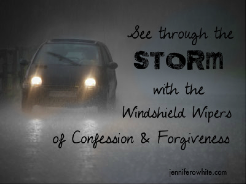 windshield wipers and forgiveness