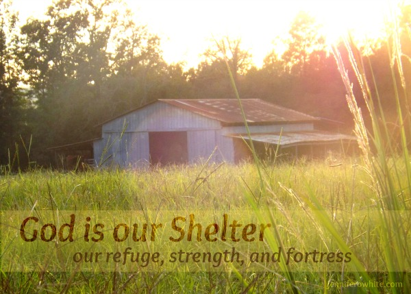Praise God He is our Shelter