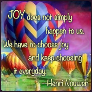 Joy Quote by Henri Nouwen