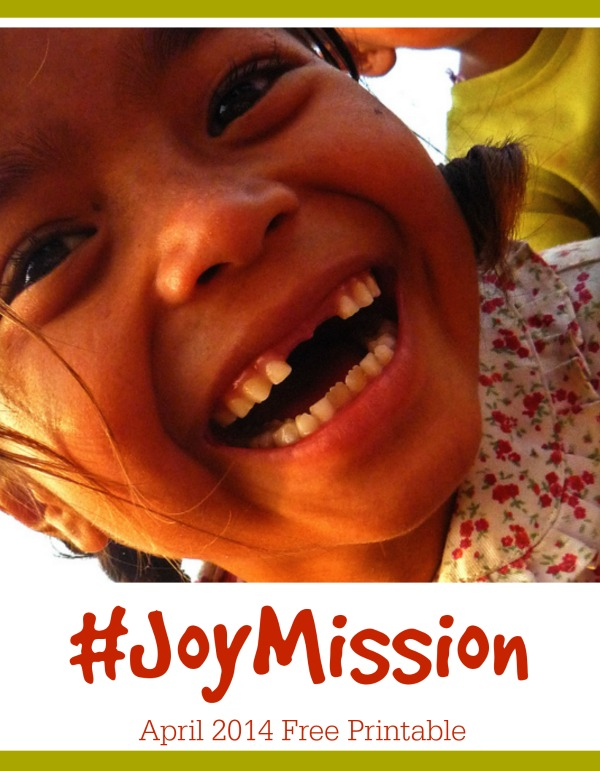 printable to experience more joy and share it